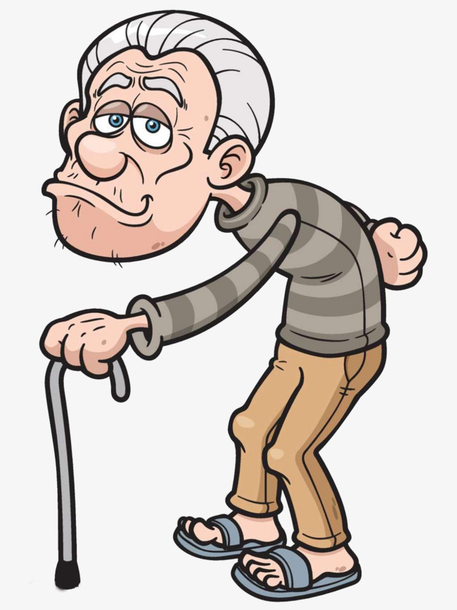 Cartoon rickets humpbacked png. Grandfather clipart