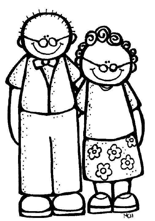 Grandmother and clip art. Grandfather clipart