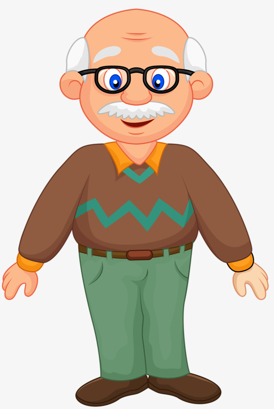 White haired glasses hair. Grandfather clipart