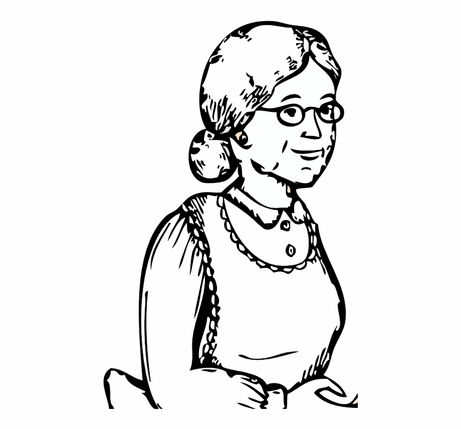 Grandmother clipart black and white. Free grandpa download clip