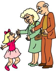 Young clipart grandparent child. Grandparents activities fun ideas