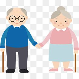 Hand in the grandparents. Grandmother clipart old folks