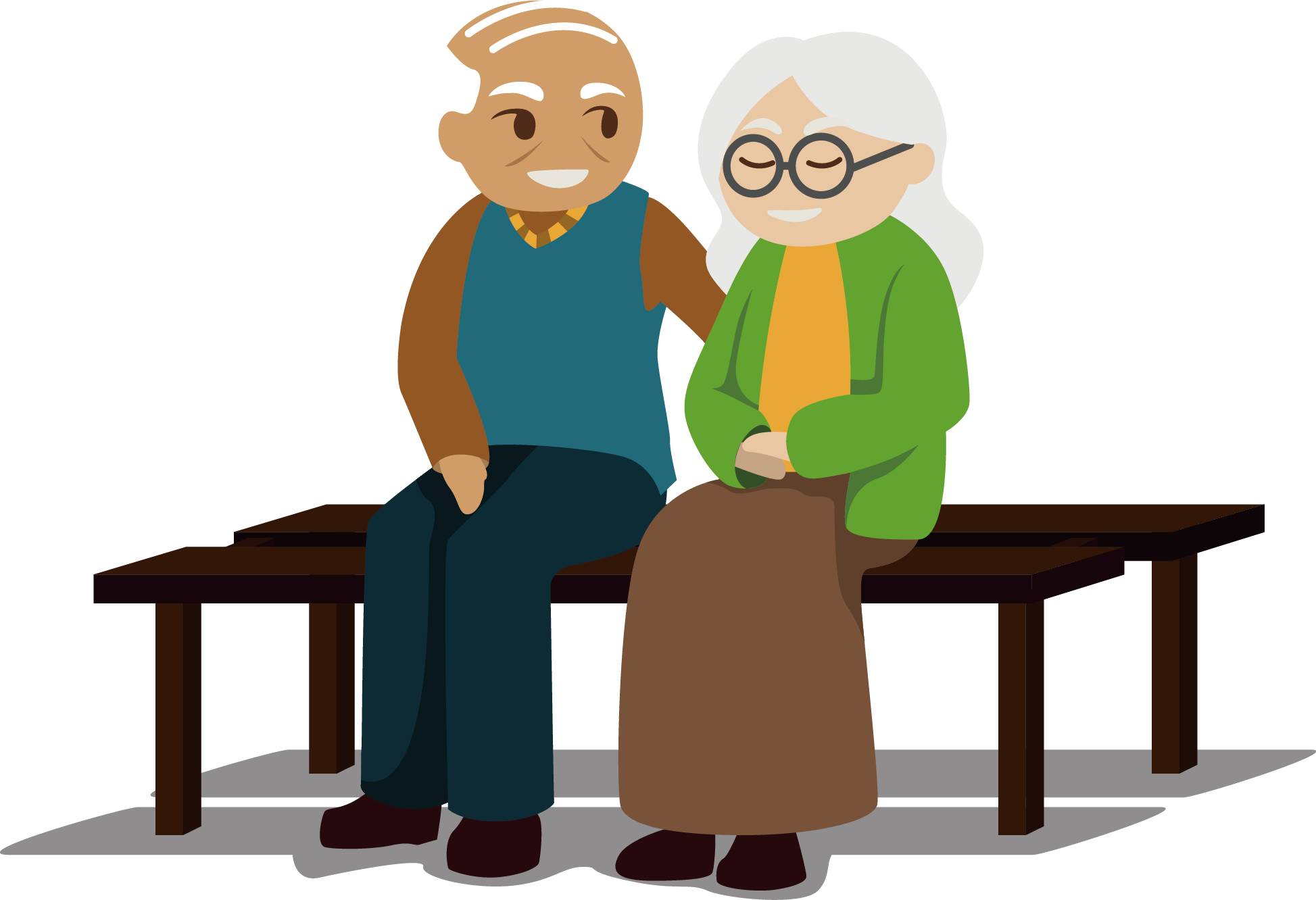 Grandparent clipart retired couple. Investment pension retirement saving