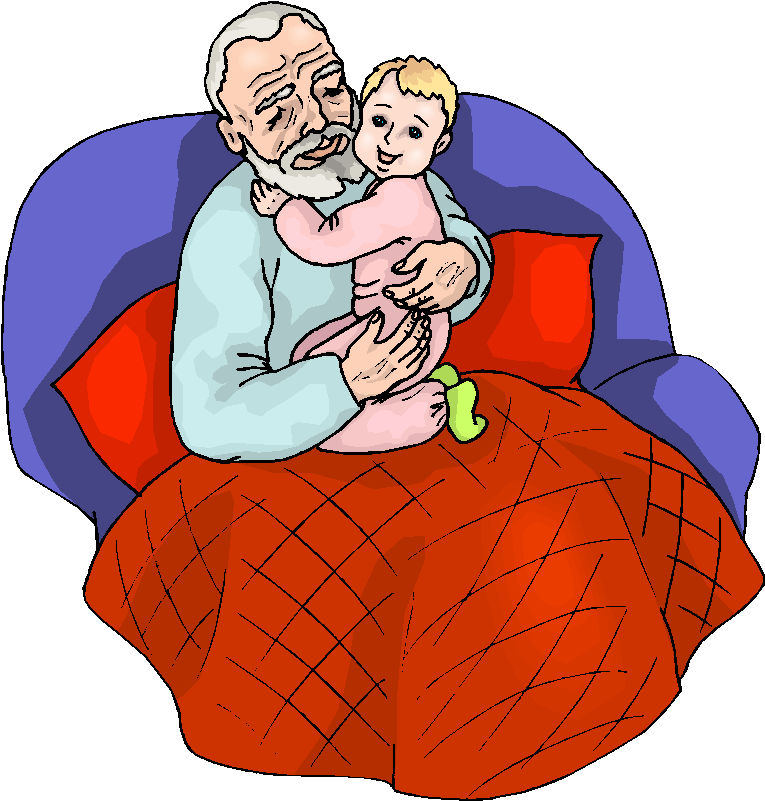 Grandfather clipart grandfather grandchild. With his free