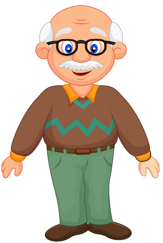 collection of grandfather. Grandma clipart hip