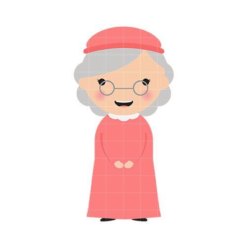 Grandma clipart. Face google search caras