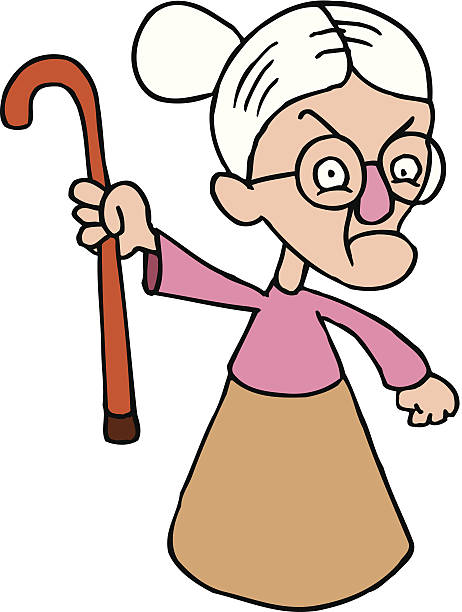 Grandma clipart.  collection of angry
