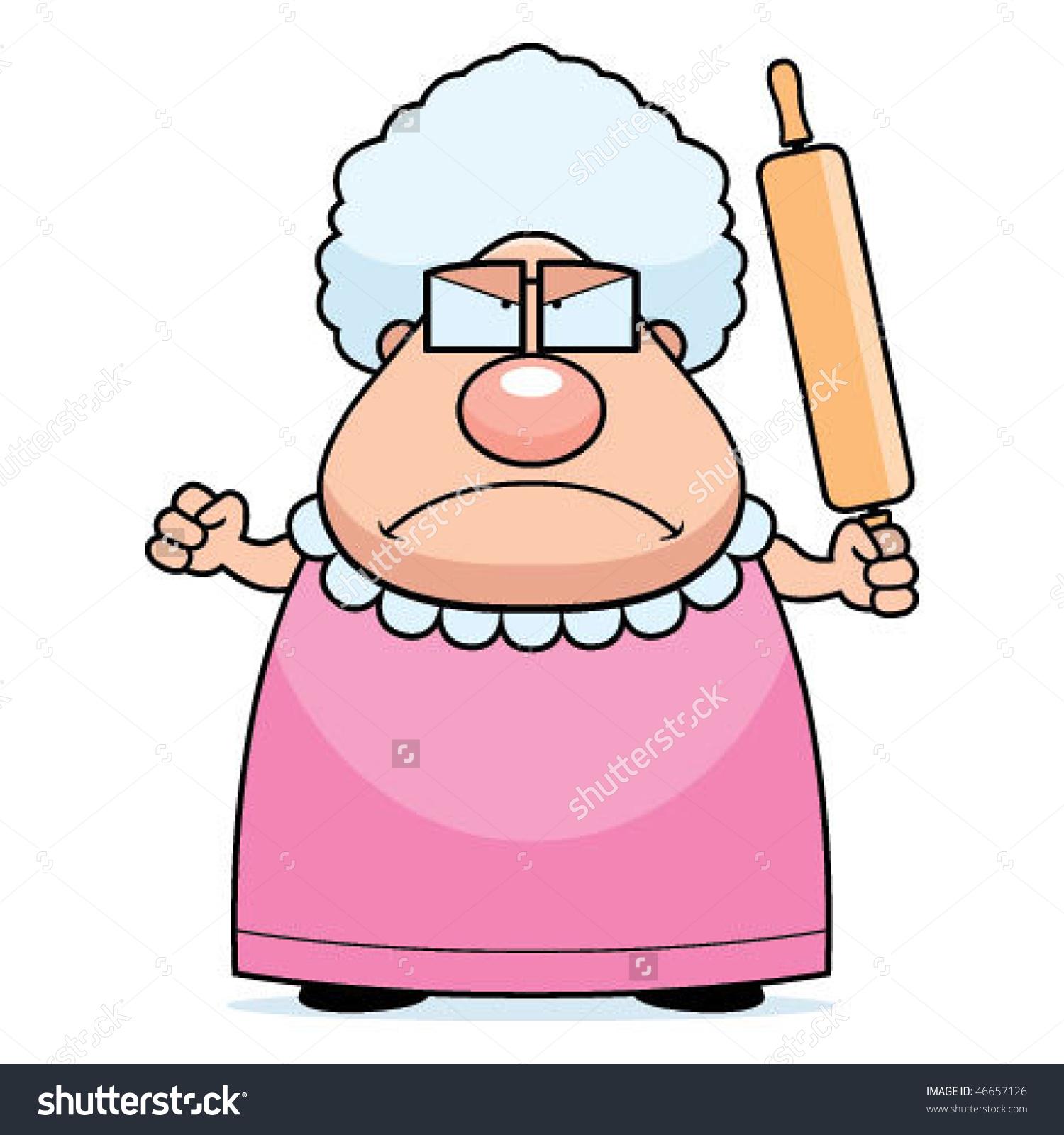 Grandma clipart cane clipart. Granny free download best