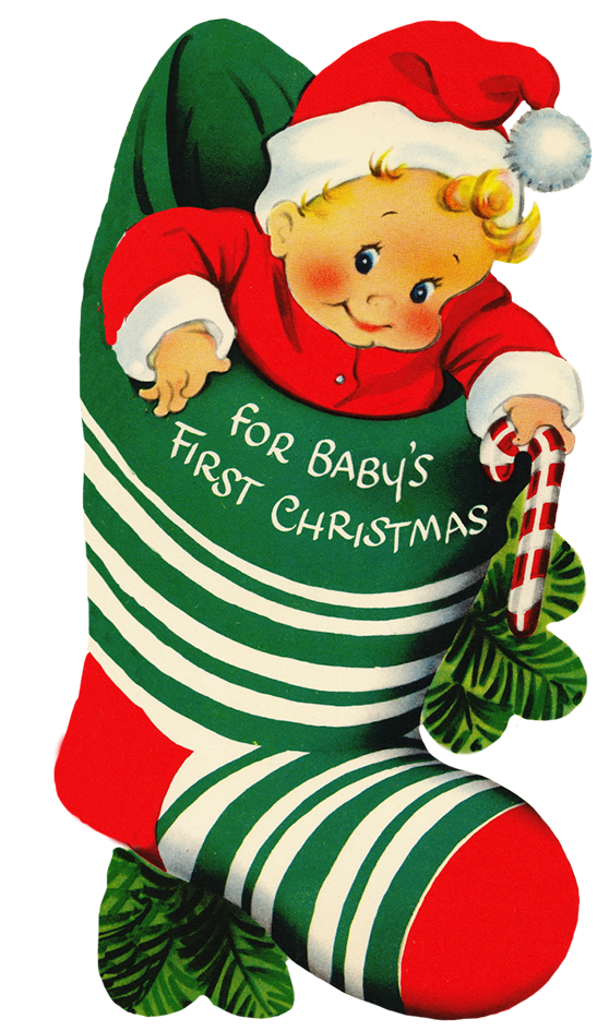 Grandma clipart christmas. Baby s first in