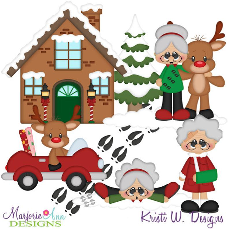 Grandma clipart christmas. The reindeer exclusive instant