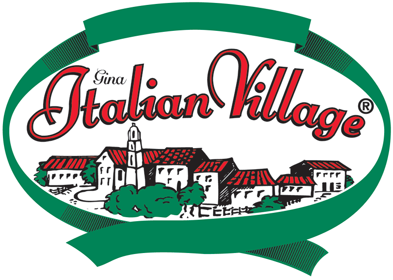 Italian rosina food products. Square clipart village square