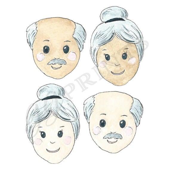 Grandparents and grandpa planner. Grandma clipart hispanic