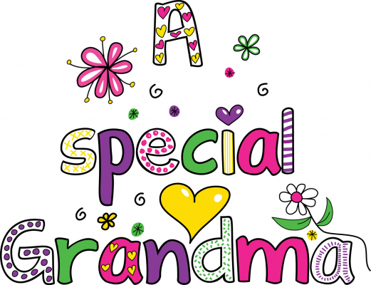 Grandmother clipart grandma word. Day happiness is my