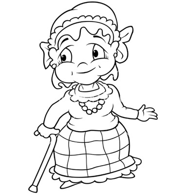 Free grandma head cliparts. Grandmother clipart black and white