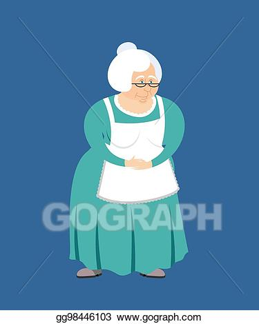 Grandmother clipart pensioner. Vector stock isolated granny