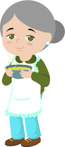 Grandmother clipart. Chicken soup image a