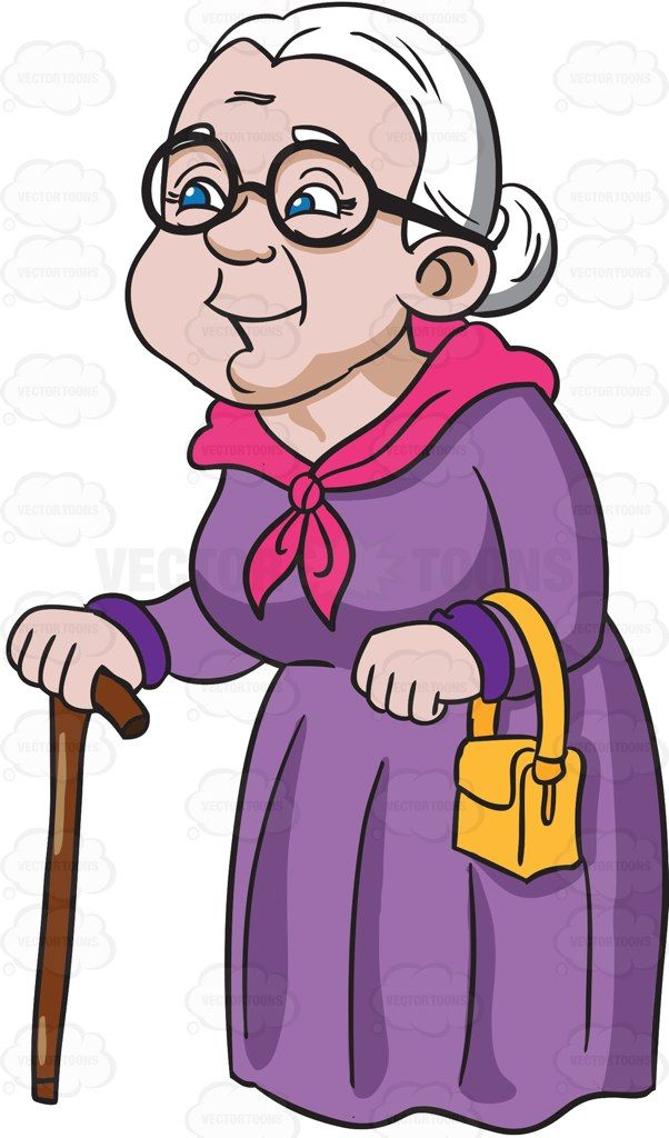 A charming and happy. Grandparents clipart animated