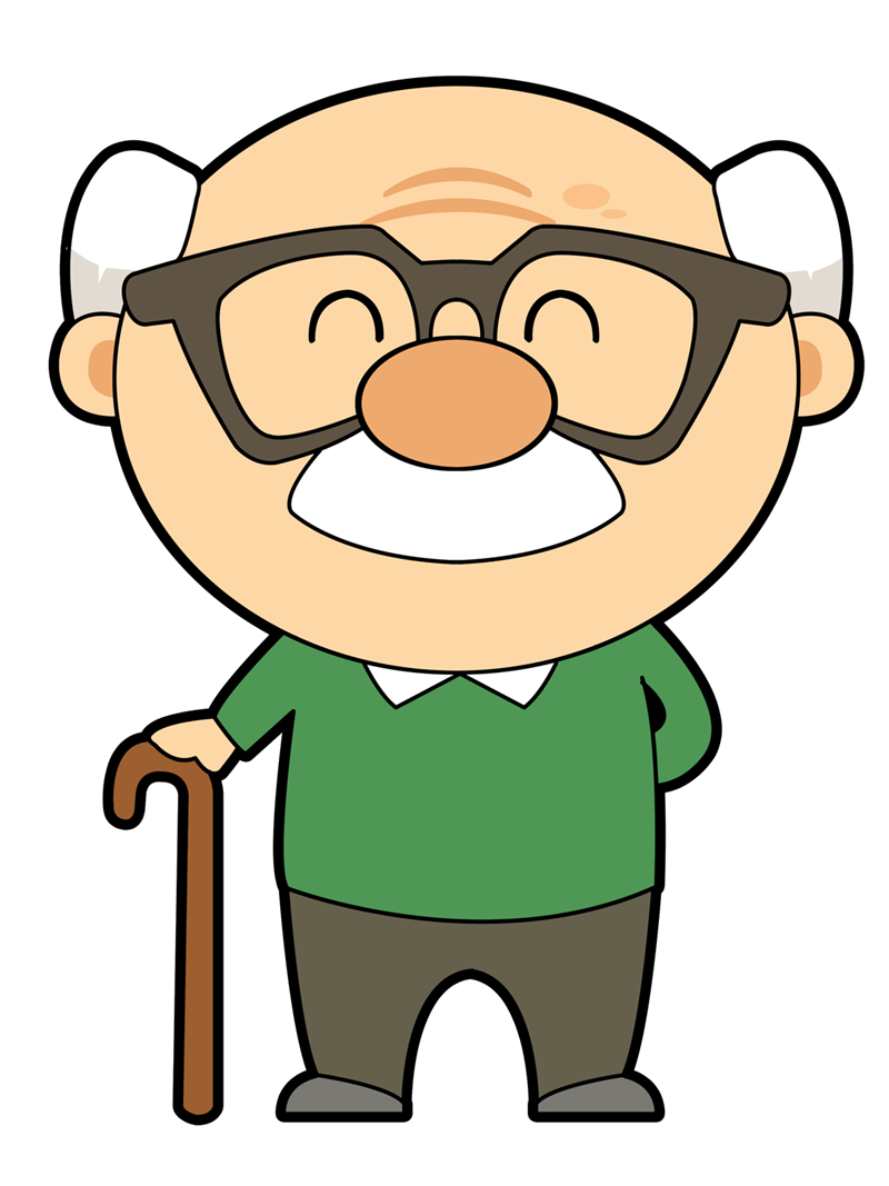 Fat clipart grandmother. Grandpa