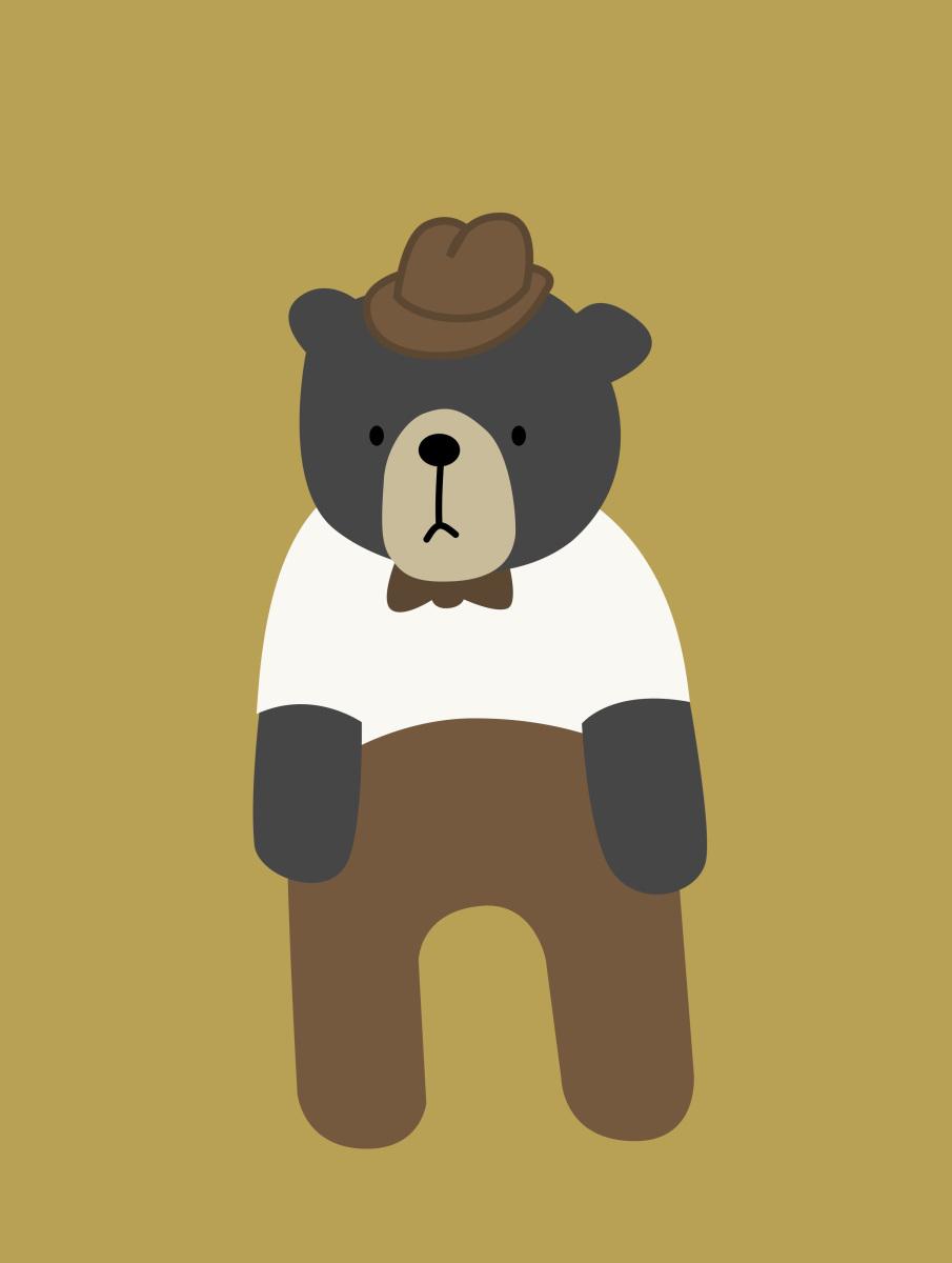 Grandpa clipart bear. Pocketfullofbees