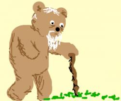 Grandpa clipart bear.