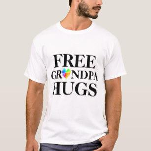 Grandpa clipart jeans tshirt. Free hugs t shirt