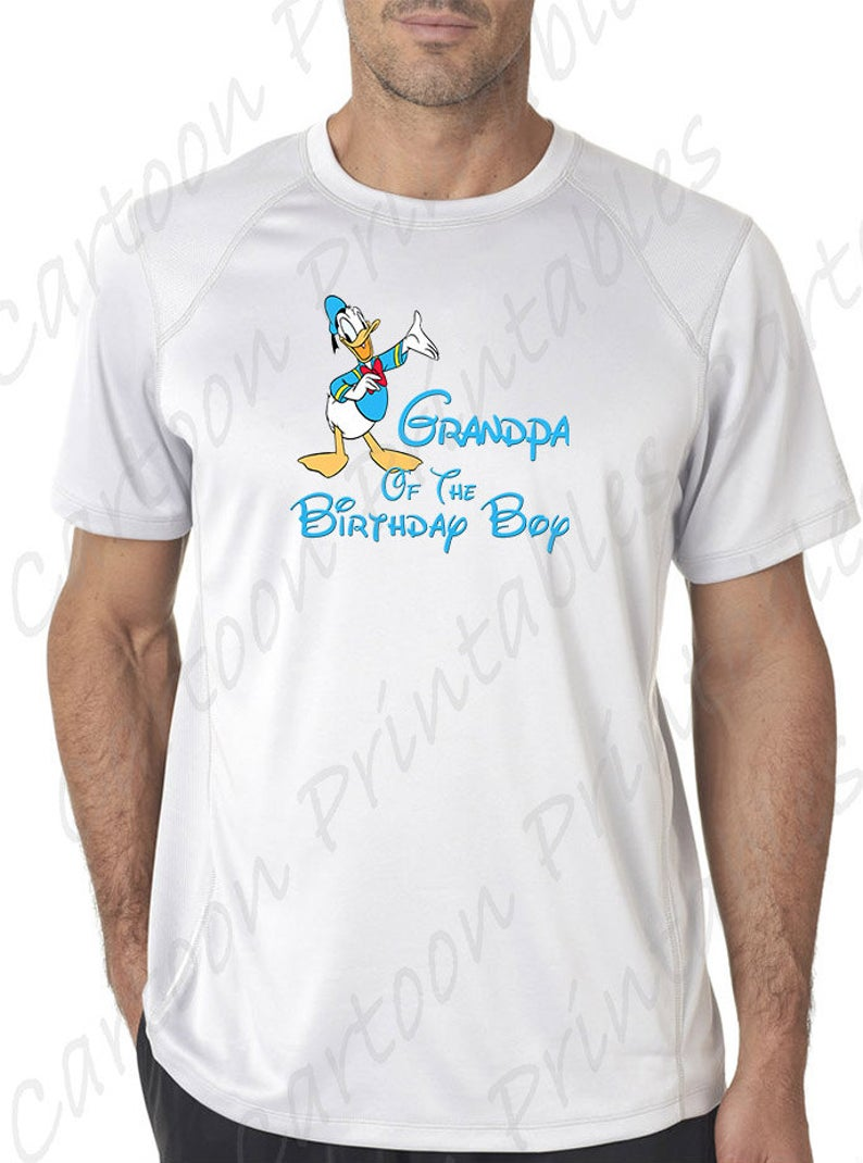 Donald duck of the. Grandpa clipart jeans tshirt