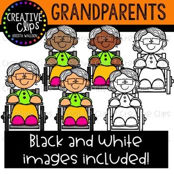 Grandparent clipart. Creative clips by krista