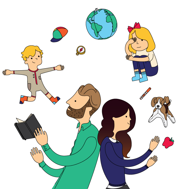 Parents clipart ideal family. About small folk travel