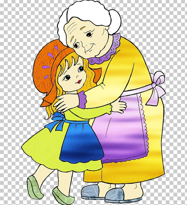Grandmother red riding hood. Grandparent clipart little family