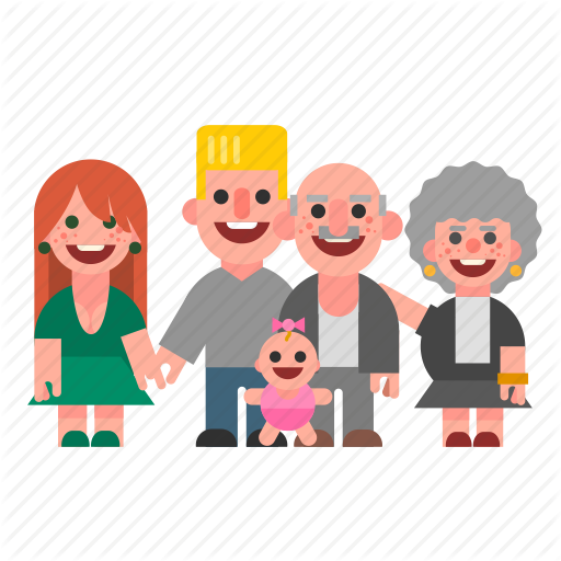 Grandparent clipart mum dad.  characters one by