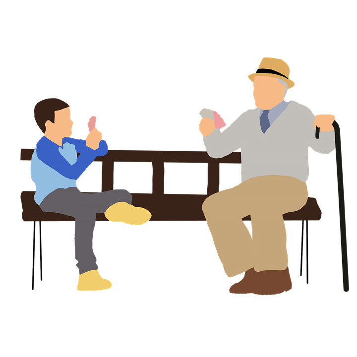 We should salute grandparents. Young clipart kinship