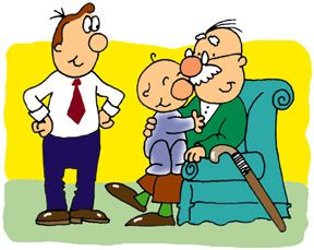 I also want to. Grandparent clipart visited