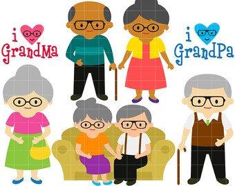 Etsy beloved clip art. Grandparents clipart