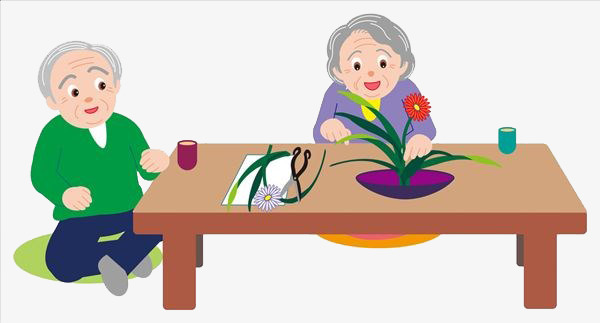 Grandparents clipart. Flower png image and