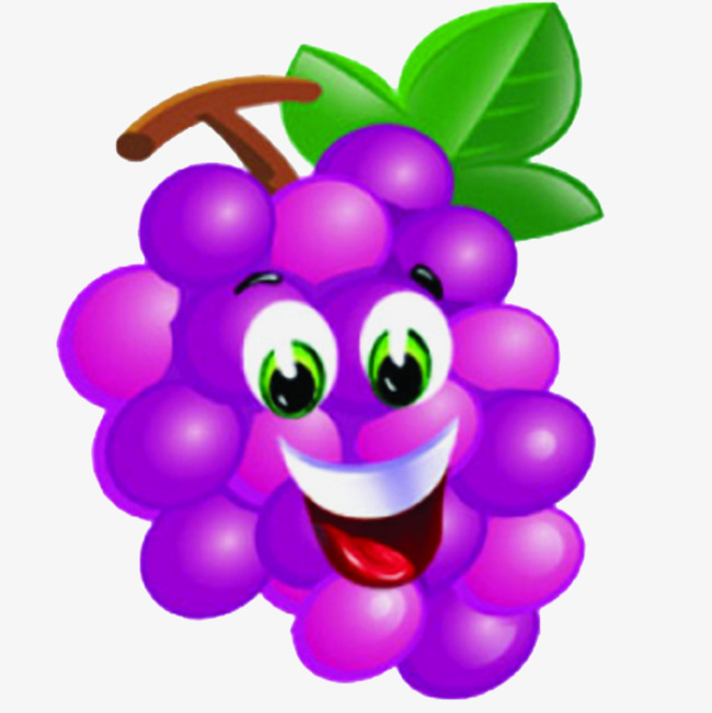 Grape clipart. Purple smiley smile cartoon