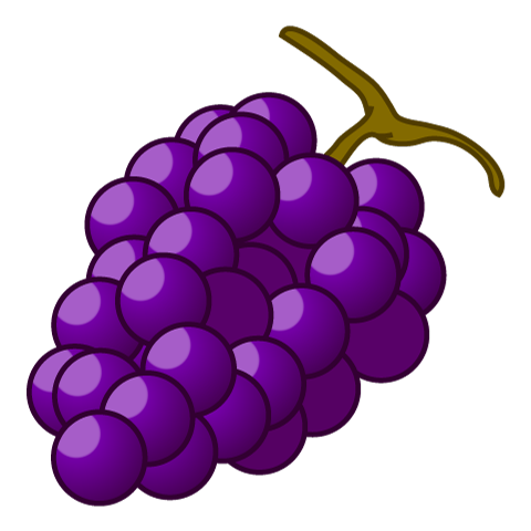 Grape clipart. Free image cartoon graphics