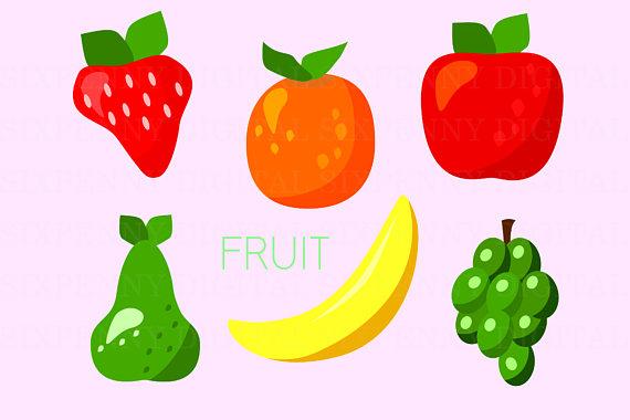 Fruit apple clip art. Grapes clipart orange