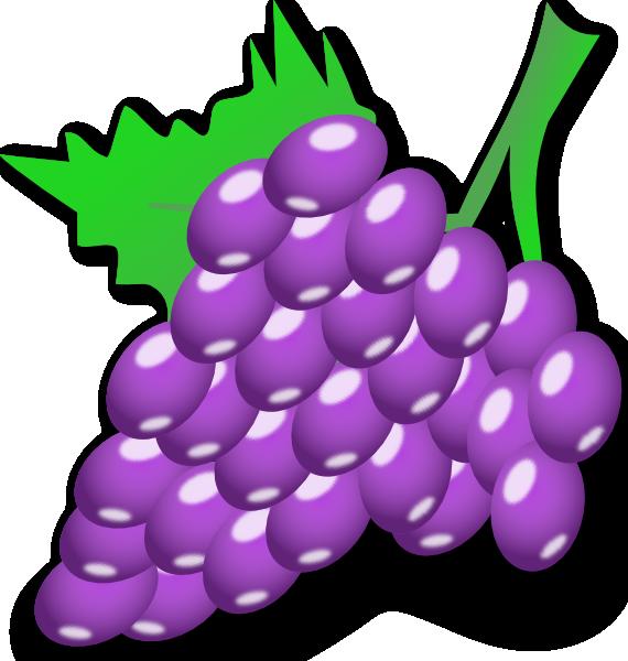 Grapes clipart violet. Clip art at clker