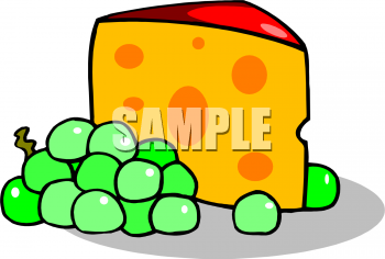 Clip art picture of. Grapes clipart cheese