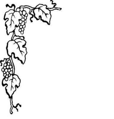 Stockphotopro images for design. Grape clipart corner