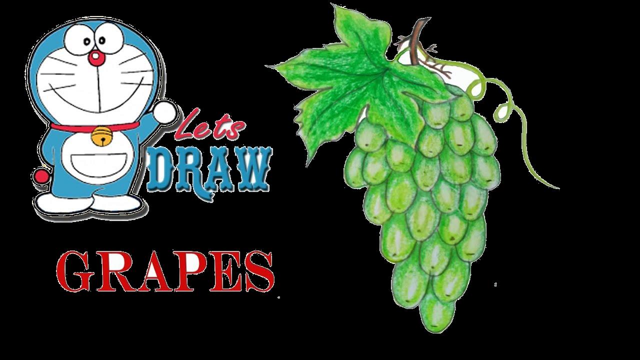 Grapes transparent clip arts. Grape clipart easy draw