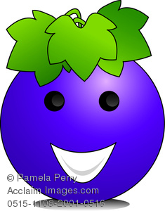 Grape clipart face. Clip art image of