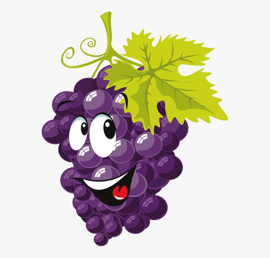 Grape clipart face. Fruit with faces clip