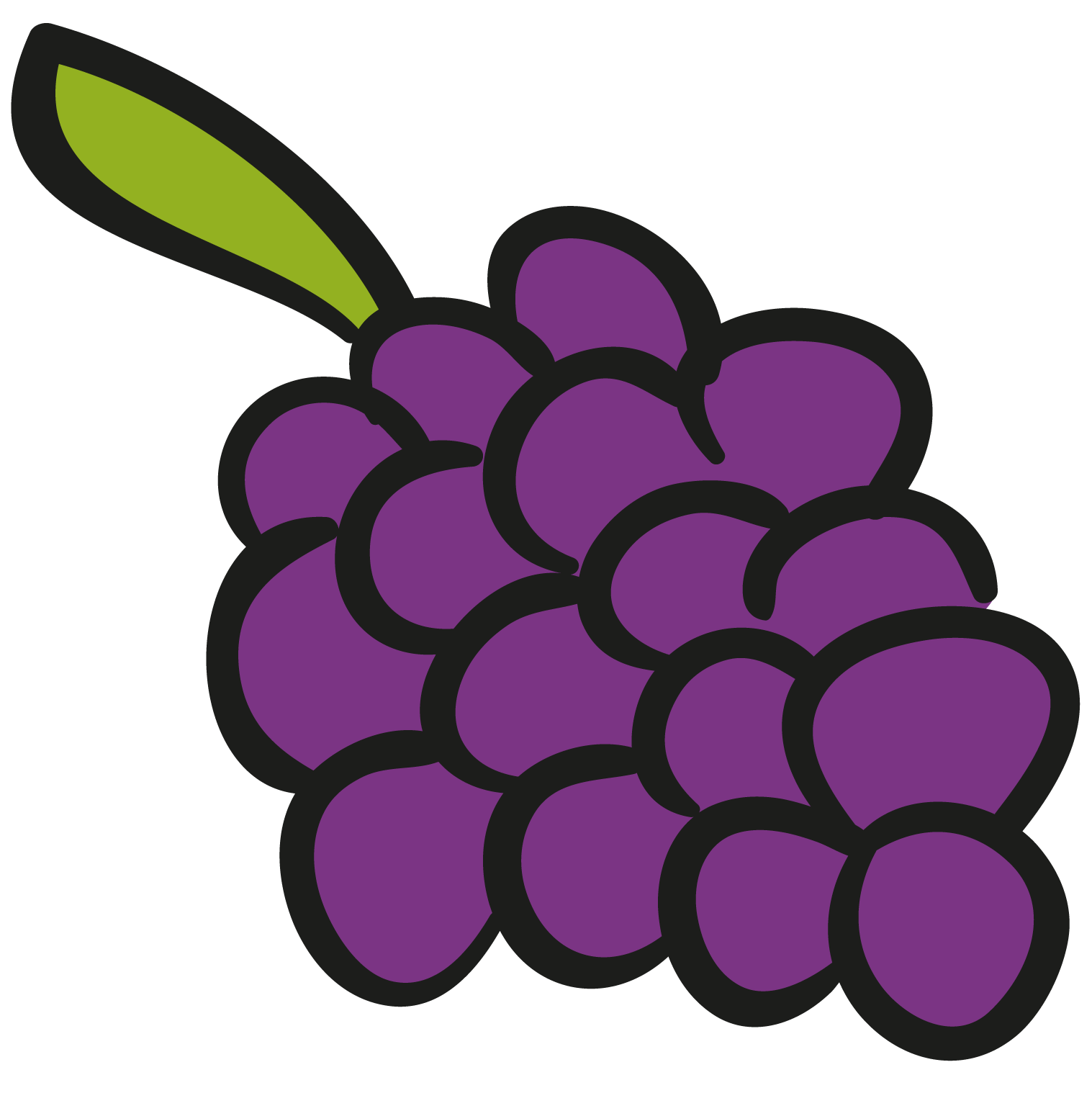 Animation a bunch of. Grape clipart illustration