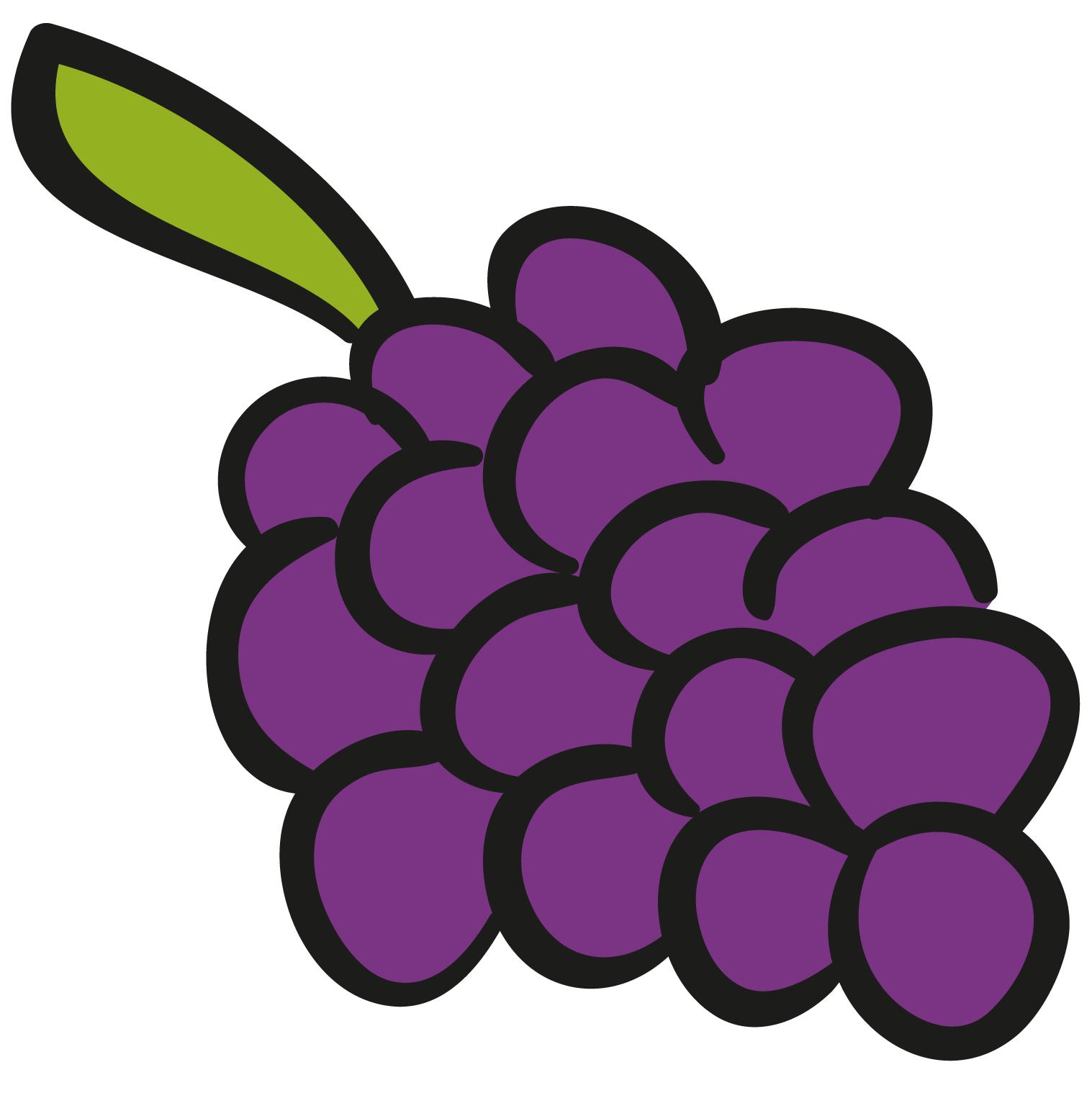 Grapes clipart violet. Grape animation illustration a