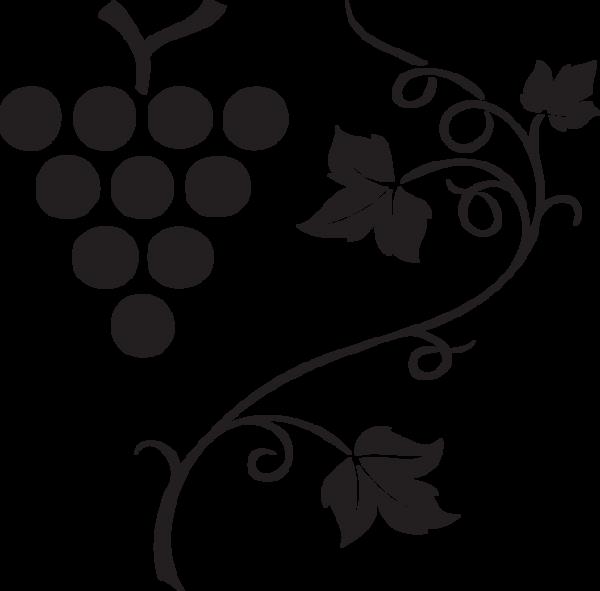 Grapes clipart outline.  vine clip art