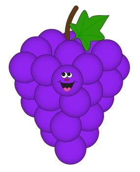 Grape clipart purple colour. Clip art color series