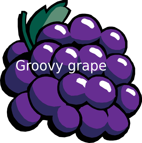 Grape clipart purple colour. Groovy group clip art