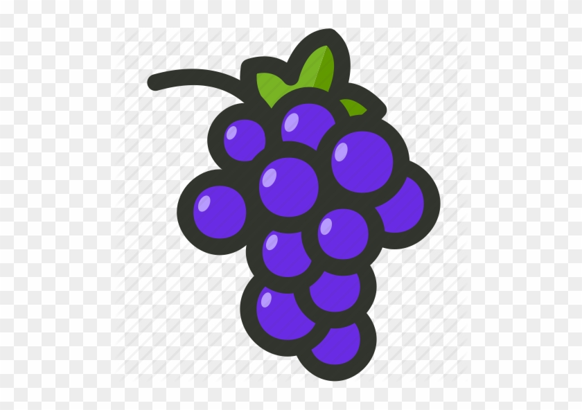 Grape icon free transparent. Grapes clipart purple food