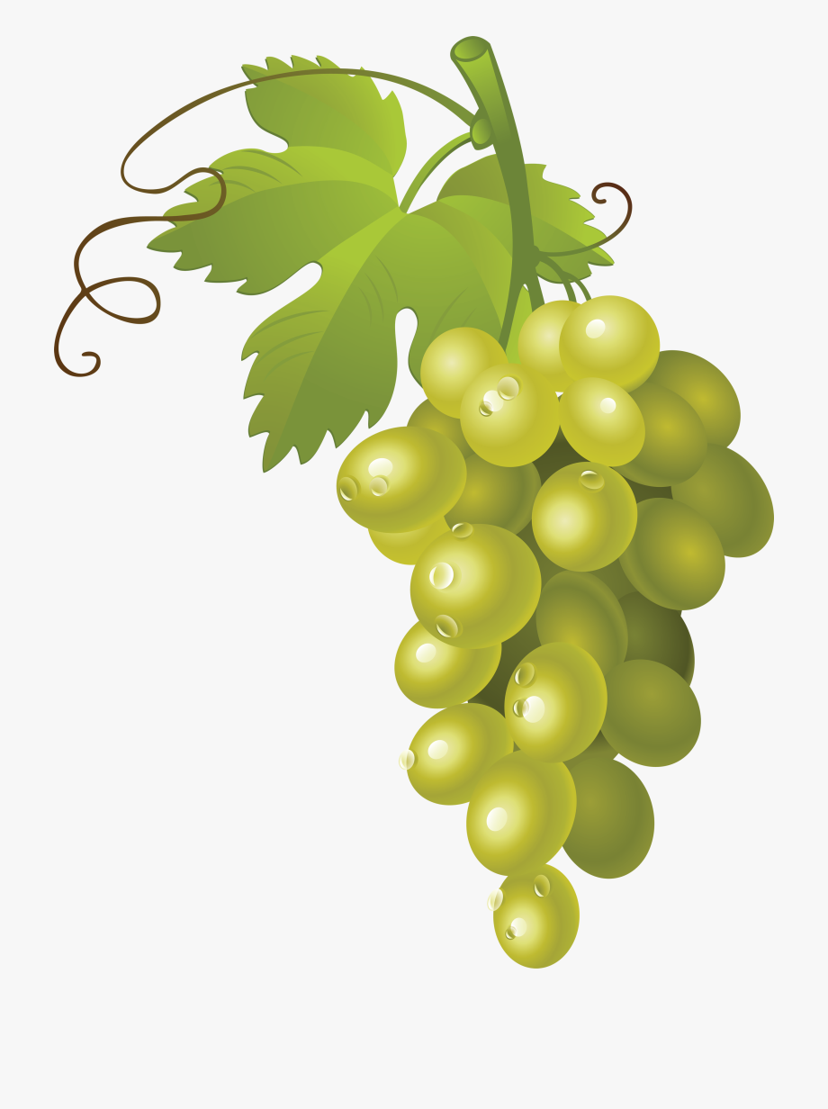 Grapes clipart yellow. Transparent background green free